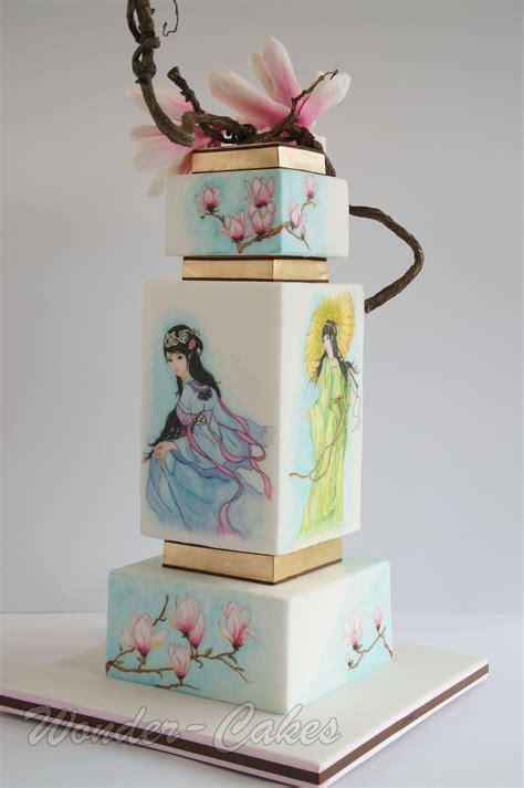 Japanische Hochzeitstorte by Japanese Painted Wedding Cake Silver Award Cakecentral