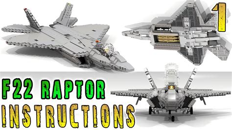 Lego F how to build lego f 22 raptor part 1