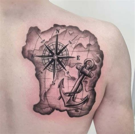 compass tattoo with globe and anchor 42 friggin amazing compass tattoos anchor tattoos