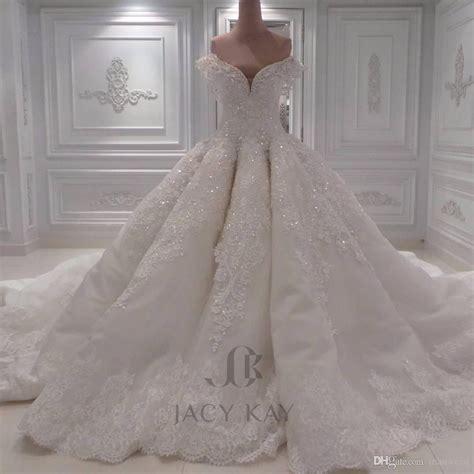 arabic bridal gowns luxury ball gown arabic wedding dresses off shoulder 3d