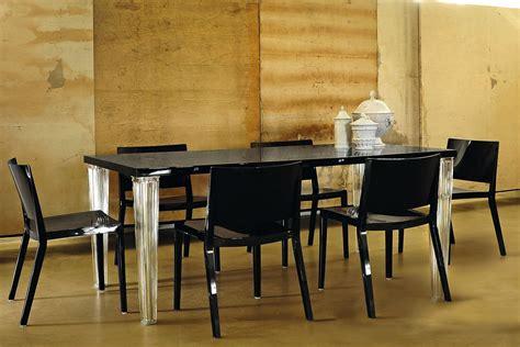 tavolo nero lucido toptop table tavolo kartell di design in metacrilato