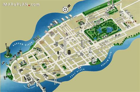 map new york city attractions maps of new york top tourist attractions free printable