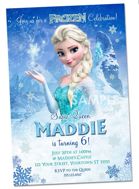disney frozen invitations personalized frozen party