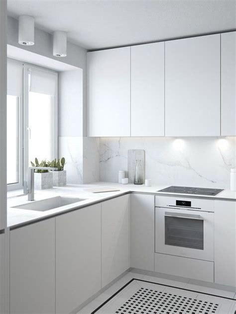 contemporary kitchen backsplash pictures with minimalist 30 airy and welcoming all white kitchen designs digsdigs