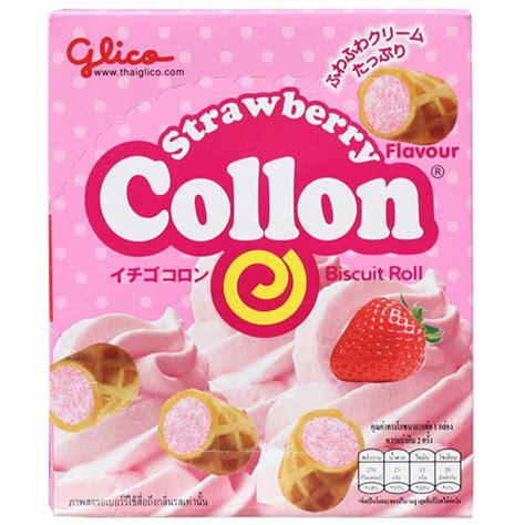 Glico Collon japan centre glico strawberry collon biscuits japan