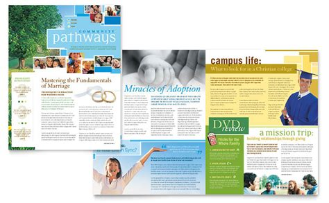 newsletter layout template community church newsletter template word publisher