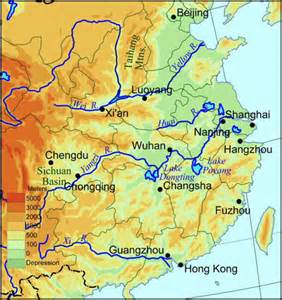 Rivers In China Map by Two Great Rivers Run Through China Proper