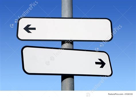 sign post template two way blank signpost with copyspace stock image