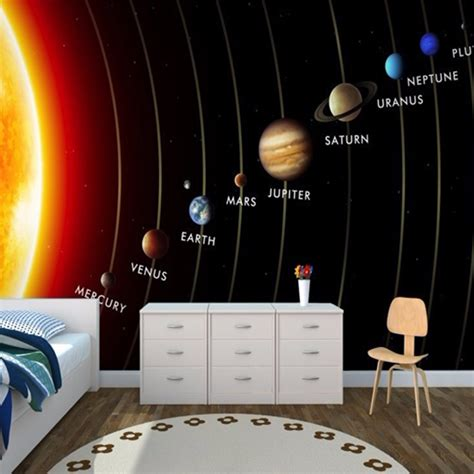 solar system space wallpaper mural kool rooms for kool kids online get cheap wall entertainment systems aliexpress