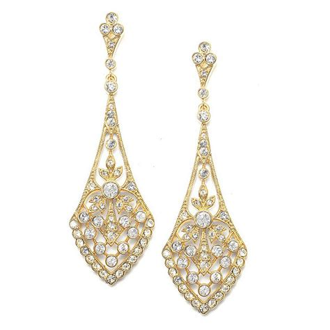 Ohrringe Gold Hochzeit by Gold Chandelier Earrings Gold Wedding Earrings