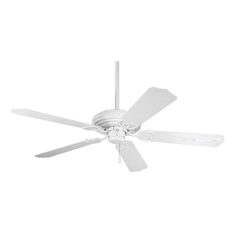 White Ceiling Fan Without Light Progress Ceiling Fan Without Light In White Finish P2502 30 Destination Lighting