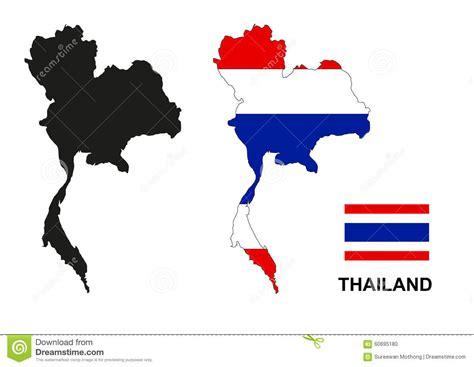 thailand map vector thailand map vector thailand flag vector isolated