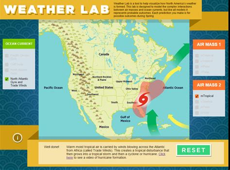 climate pattern lab weather lab predict weather patterns the infinite spider