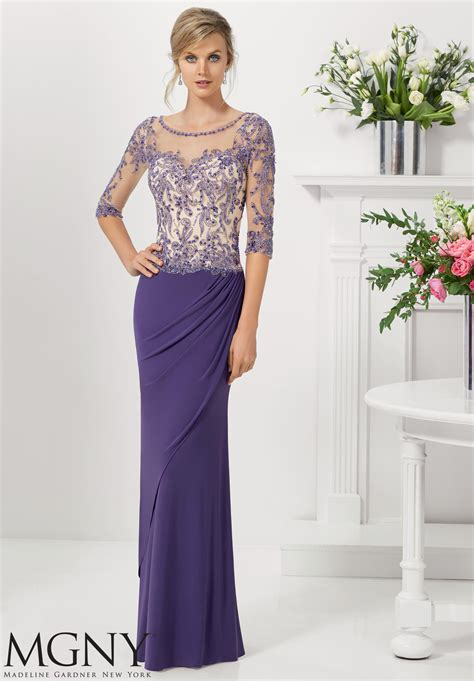 Evening Gown caviar beading on lace evening gown morilee