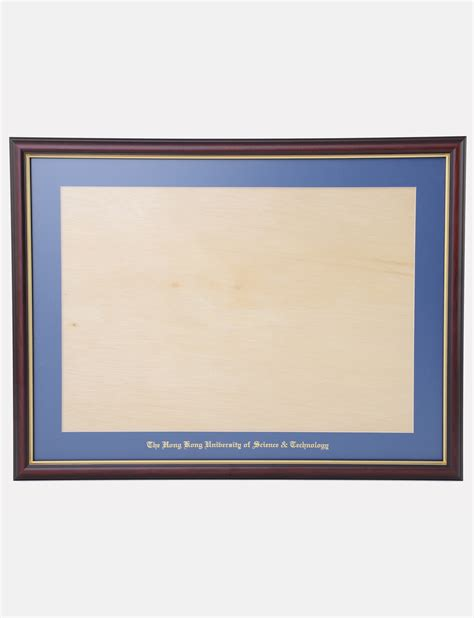 glass diploma wooden frame