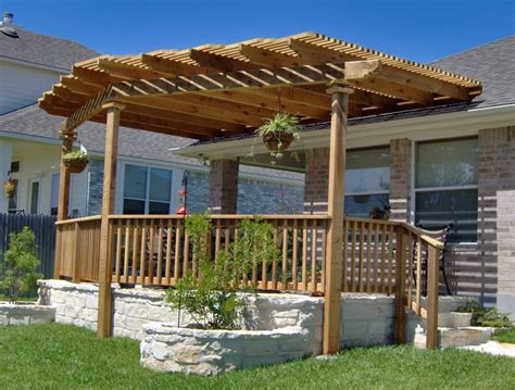 exterior backyard patio pergola ideas design  wooden