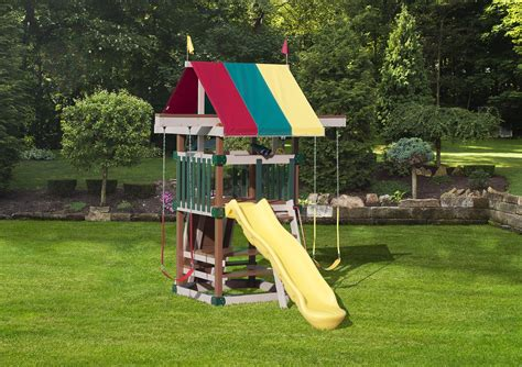 space saver swing set play mor family space saver poly swing set from dutchcrafters