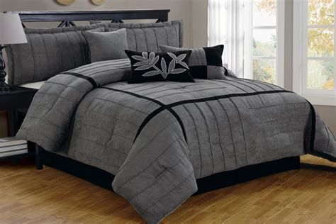 king size bed in a bag with curtains 21 pc comforter curtain gray sheet set black micro suede