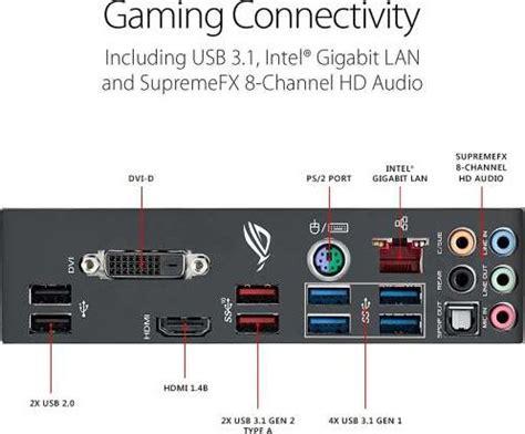 Asus Rog Laptop Hdmi Sound asus rog strix z370 h gaming motherboard lga1151 ddr4 dp hdmi dual m 2 atx motherboard with