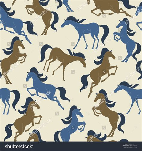 stock horse pattern horse pattern seamless pattern background stock vector