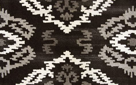 black and white ikat rug suffolk ikat medallion wool area rug in black 9 x 12