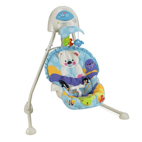 fisher price swing plug in new fisher price precious planet plug in baby cradle n