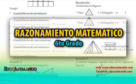 imagenes razonamiento matematico libro de razonamiento matematico 6to grado material para