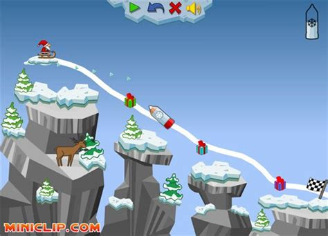 the best free online santa claus games to play this christmas - Sled Line Game