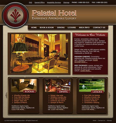 website template luxury hotels and carousels on pinterest 1000 images about 1926 heritage h content layout on