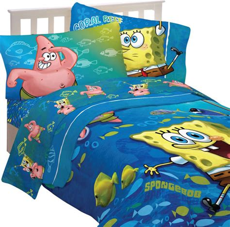 spongebob squarepants bedroom set spongebob squarepants fish swirl 5pc full bedding set