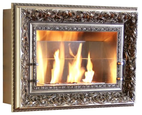 vintage picture frame wall fireplace
