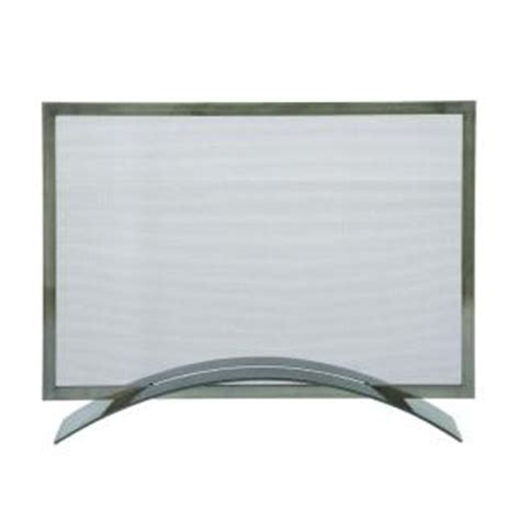 pleasant hearth 1 panel fireplace screen in gun