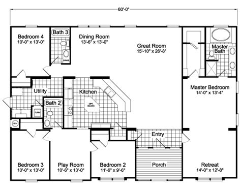 palm harbor mobile homes floor plans palm harbor hacienda floor plan homedesignpictures