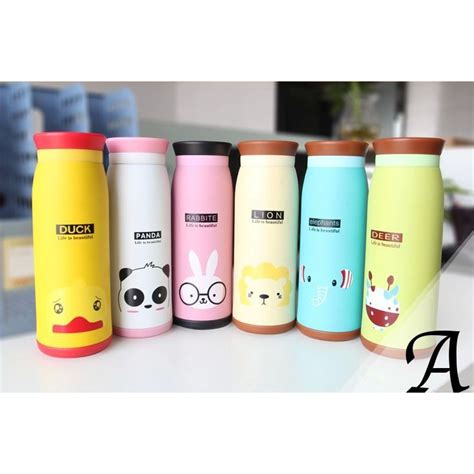 Colourful Thermos Insulated Mik Water Bottle 500ml Ther colourful thermos insulated mik water bottle 500ml jakartanotebook