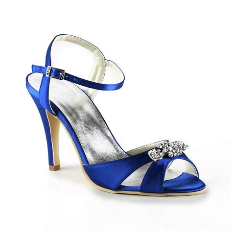 prom shoes exquisite blue stiletto heels peep toe prom evening shoes