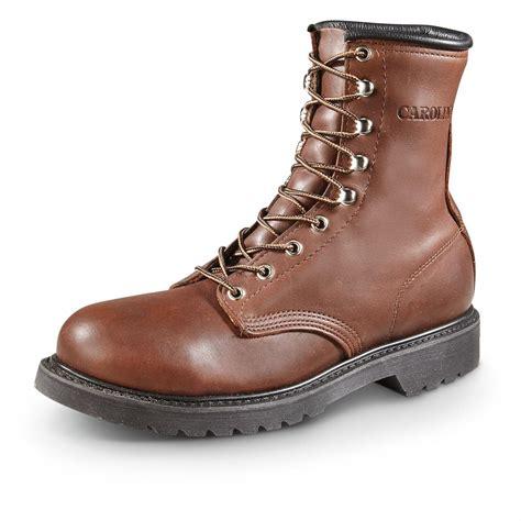 steel toe boots carolina s work boots steel toe vibram outsole