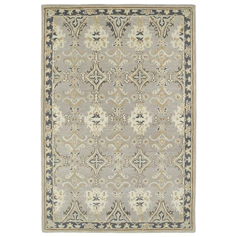 Kaleen Area Rugs Kaleen Middleton Grey 8 Ft X 10 Ft Area Rug Mid04 75 810 The Home Depot