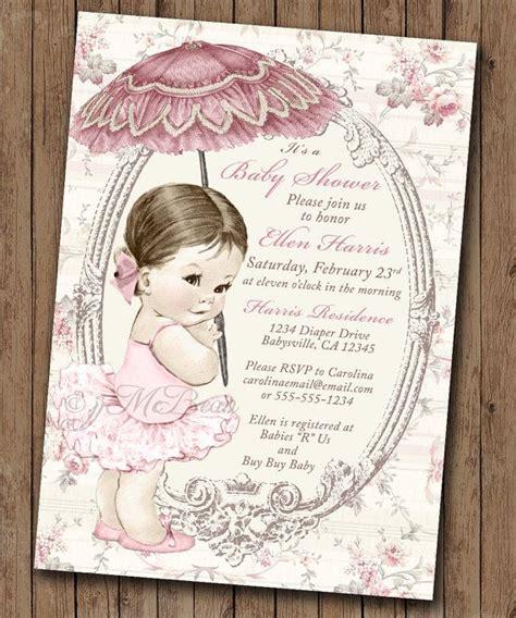 diy vintage baby shower invitations vintage baby shower invitation for baby bath pink