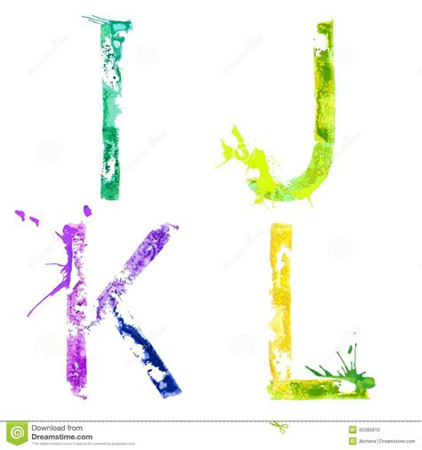 Paint A L by Vector Paint Splash Font I J K L Stock Vector Image