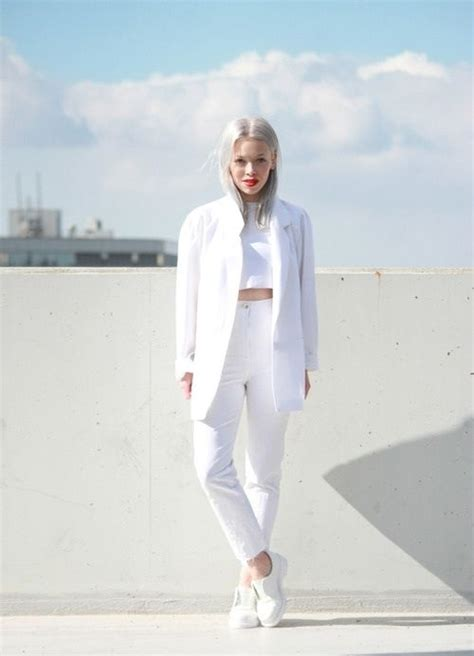 all white outfit on pinterest white outfits white 25 head to toe white outfits to try now blazers white