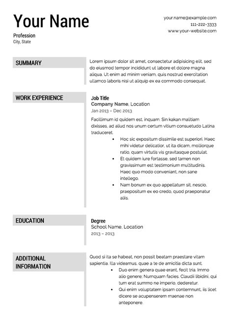 Free Downloadable Resume Templates by Free Downloadable Resume Templates Lifiermountain Org