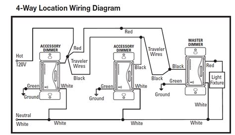 wiring diagram for 4 way switch with dimmer wiring