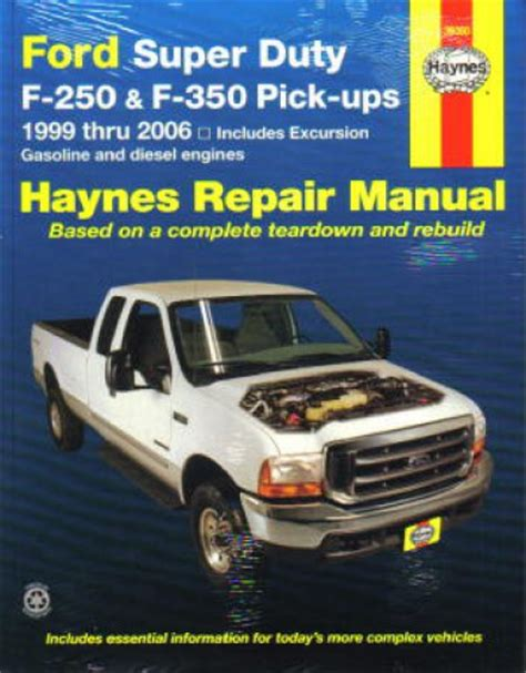 haynes ford super duty     pickup  excursion   repair manual
