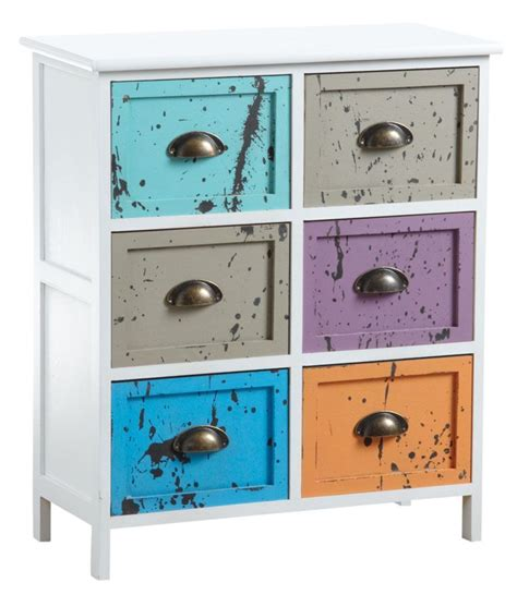 Commode Tiroirs Multicolores by Commode 6 Tiroirs Multicolores