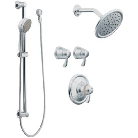 moen shower moen 270 exacttemp shower trim kit with handshower chrome