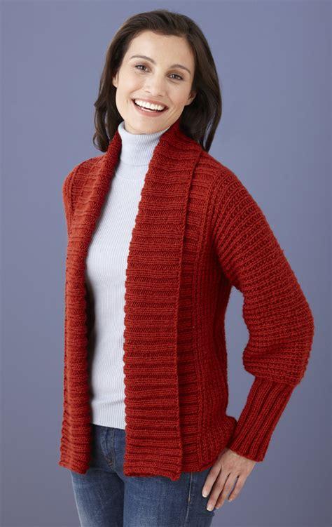 knit cardigan pattern drapey cardigan in brand vanna s choice l10572
