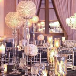 bling centerpieces wedding reception purple and silver bling wedding theme pictures of