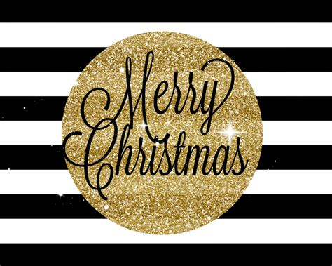 mimi lee printables  merry christmas black  gold  printable