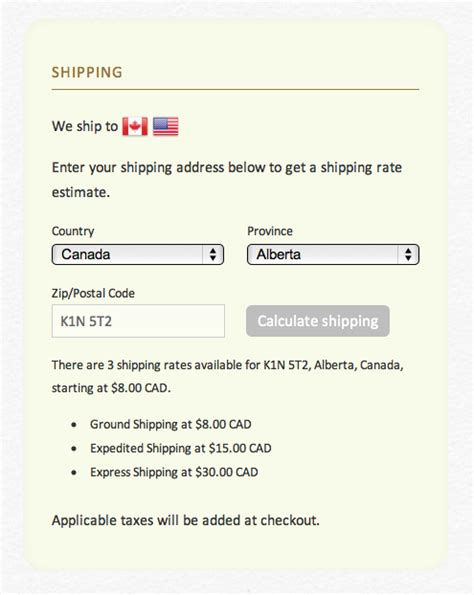 shopify themes with shipping calculator new addition to our ajax api shipping rates calculation