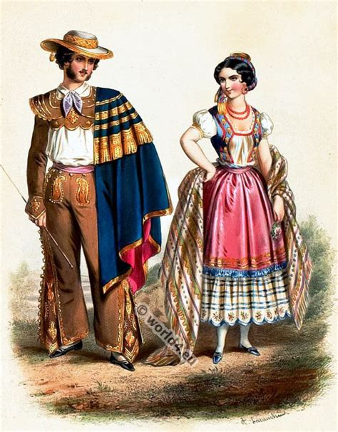 traditional mexican costumes 1850s costume history